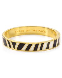 kate spade new york - Metallic Ahead Of The Pack Hinged Idiom Bangle - Lyst