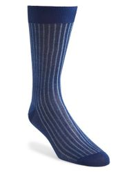 Canali | Blue Ribbed Socks for Men | Lyst