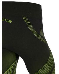 Spyder - Green Captain Base Layer Ski Pants - Lyst