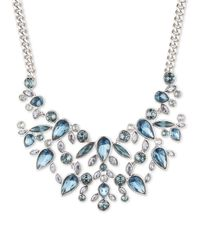 Givenchy | Blue Crystal Clusters Drama Frontal Necklace | Lyst