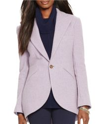Lauren by Ralph Lauren | Purple Wool Blazer | Lyst