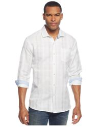 Tommy Bahama | White Big & Tall Squarely There Linen-blend Shirt for Men | Lyst