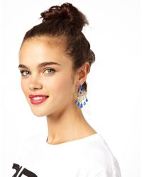 ASOS - Multicolor Pop Filigree Chandelier Earring - Lyst