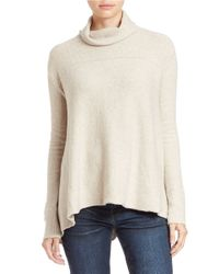 Free People | Natural Draped Turtleneck Top | Lyst