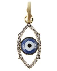 Sylva & Cie | Blue Agate Evil-Eye Charm Pendant | Lyst
