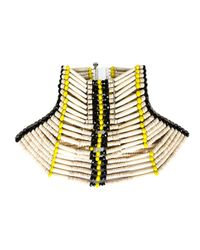 KTZ | Natural Beaded Oversized Tribal Choker | Lyst