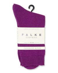 TOPSHOP - Purple Falke Cosy Wool Ankle Socks - Lyst