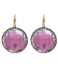 Larkspur & Hawk | Pink Topaz Olivia Button Earrings | Lyst