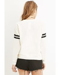 Forever 21 | Black Downtown La Varsity Sweater | Lyst