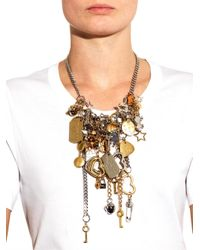 Marc By Marc Jacobs | Metallic Multi-Charm Necklace | Lyst