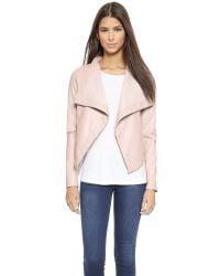 BB Dakota | Pink Lillian Drapey Front Jacket - Parchment | Lyst