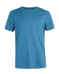 TOPMAN | Blue Teal Cube Print T-shirt for Men | Lyst