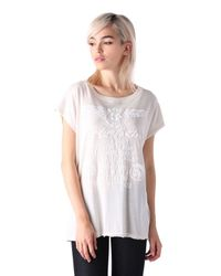 DIESEL | White T-serra-c | Lyst
