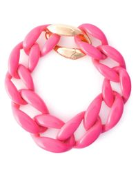 Moschino | Pink Chunky Chain Necklace | Lyst