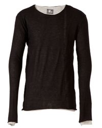 Lost & Found - Gray Double Layered Tshirt for Men - Lyst