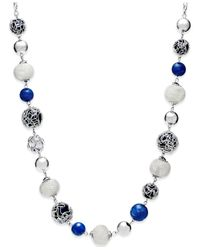 Style & Co. | Silver-tone Blue Jet Bead Long Necklace | Lyst