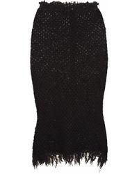 Étoile Isabel Marant | Black Joliet Waffle knit Cottonblend Skirt | Lyst