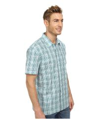Perry Ellis | Blue Short Sleeve Multicolor Check Shirt for Men | Lyst