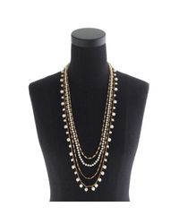 J.Crew - Metallic Pearls and Chains Necklace - Lyst