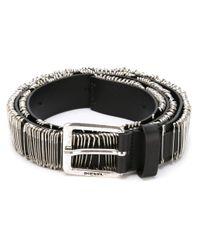 DIESEL   Black Safety Pin Belt for Men   Lyst