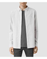 AllSaints - Gray County Shirt for Men - Lyst