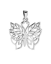 Aeravida | Metallic Pretty Wild Butterfly Detailed .925 Silver Pendants | Lyst