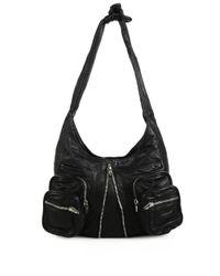 Alexander Wang - Black Donna Leather Hobo Bag - Lyst
