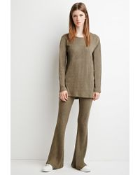 Forever 21 | Green Marled Knit Flared Pants | Lyst