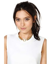 Nasty Gal - Metallic Nicki Collar Necklace - Lyst