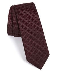 Z Zegna | Black Geometric Silk Tie for Men | Lyst