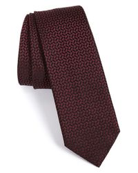 Z Zegna | Gray Geometric Silk Tie for Men | Lyst