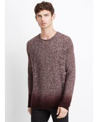 Vince | Purple Degrade Marled Merino Sweater for Men | Lyst