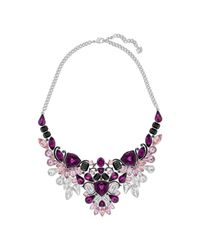 Swarovski - Pink Impulse Necklace - Lyst