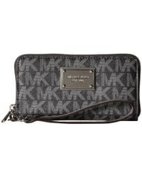 MICHAEL Michael Kors | Gray Jet Set Travel Large Coin Mlt Funt Phone Case | Lyst