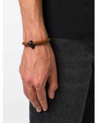 Alexander McQueen   Brown Woven Skull Bracelet   Lyst