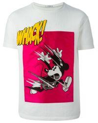 Iceberg - White Mickey Mouse-Print T-Shirt for Men - Lyst