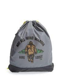 The North Face - Gray 'sack Pack' Drawstring Bag for Men - Lyst