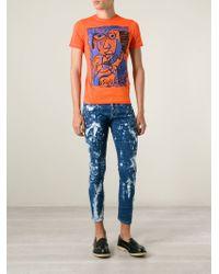 DSquared² | Blue Tie Dye Jeans for Men | Lyst
