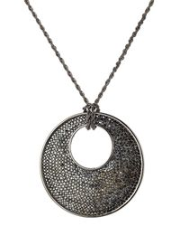 Kenneth Jay Lane - Black Statement Pendent Necklace - Lyst