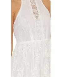 Free People - White Lace Verushka Mini Dress - Lyst
