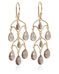 Dinny Hall - Metallic Gold Vermeil Smoky Quartz Chandelier Earrings - Lyst