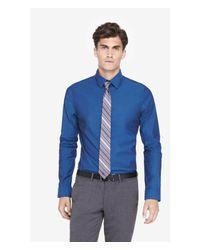 Express - Blue Modern Fit Iridescent 1mx Shirt for Men - Lyst