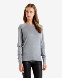 Ted Baker - Gray Crystal Stud Sweater - Lyst