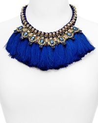 Carolee | Blue Tassel Statement Necklace, 16"