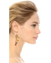 Erickson Beamon | Metallic My Beloved Earrings - Gold | Lyst
