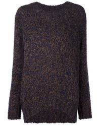 YMC - Brown Oversize Sweater - Lyst