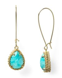 Kendra Scott - Blue Shelly Drop Earrings - Lyst