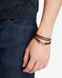Ted Baker - Brown Woven Leather Bracelet for Men - Lyst
