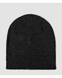 AllSaints | Black Ektarr Beanie Hat Usa Usa for Men | Lyst