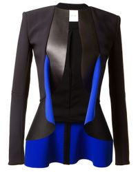 Dion Lee | Blue Bimaterial Jacket | Lyst